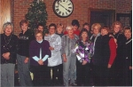 This group of women, friends from North High, have been meeting on the 1st Friday of December for 50 years.    Back- Pat